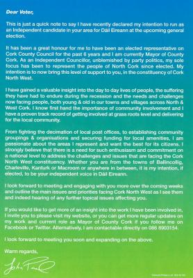 Election Leaflet back