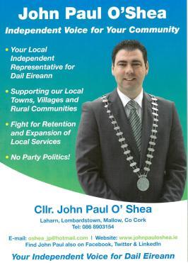Election leaflet front