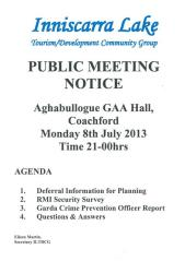 Inniscarra Lake Public meeting