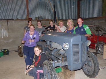 Broomhill Ladies Tractor Building team - Copy